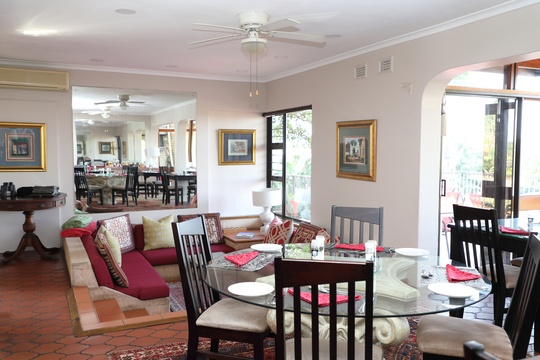 Dining room and lounge area